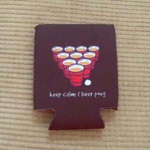 Other - Keep Calm & Beer Pong Koozie/Beer Huggie
